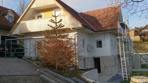 Fassade Kitzeck vorher
